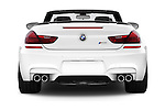 Straight rear view of a 2014 BMW M6 Convertible