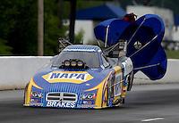 May 10, 2013; Commerce, GA, USA: NHRA funny car driver Ron Capps during qualifying for the Southern Nationals at Atlanta Dragway. Mandatory Credit: Mark J. Rebilas-