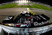 NASCAR Camping World Truck Series<br /> Toyota Tundra 250<br /> Kansas Speedway, Kansas City, KS USA<br /> Friday 12 May 2017<br /> Kyle Busch, Cessna Toyota Tundra celebrates his win<br /> World Copyright: Russell LaBounty<br /> LAT Images<br /> ref: Digital Image 17KAN1rl_4885