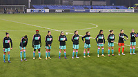 Barcelona players at the line up before a female soccer game between PSV Eindhoven Vrouwen and Barcelona, in the round of 32, 1st leg of Uefa Womens Champions League of the 2020 - 2021 season , Wednesday 9th of December 2020  in , Eindhoven, the Netherlands. PHOTO SPORTPIX.BE | SPP | SEVIL OKTEM