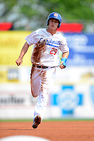 Chattanooga Lookouts outfielder Joc Pederson #29 during a game against the Birmingham Barons on April 17, 2013 at AT&T Field in Chattanooga, Tennessee.  Chattanooga defeated Birmingham 5-4.  (Mike Janes/Four Seam Images)
