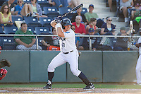 Adam Martin #31 of the Everett AquaSox at bat during a game against the Vancouver Canadians at Everett Memorial Stadium in Everett, Washington on July 9, 2014.  Everett defeated Vancouver 9-4.  (Ronnie Allen/Four Seam Images)