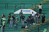 PALMIRA - COLOMBIA, 29-08-2021: Deportivo Cali y Deportivo Independiente Medellín en partido por la fecha 10 como parte de la Liga Femenina BetPlay DIMAYOR 2021 jugado en el estadio Deportivo Cali de la ciudad de Palmira. / Deportivo Cali and Deportivo Independiente Medellin in match for the date 10 as part of Women's League BetPlay DIMAYOR 2021 played at Deportivo Cali stadium in Palmira city. Photo: VizzorImage / Gabriel Aponte / Staff