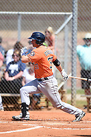 Houston Astros first baseman Conrad Gregor (37) during a minor league spring training game against the Detroit Tigers on March 21, 2014 at Osceola County Complex in Kissimmee, Florida.  (Mike Janes/Four Seam Images)