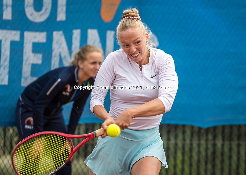 Amstelveen, Netherlands, 5  Juli, 2021, National Tennis Center, NTC, AmstelveenWomans Open,   Tayisiya Morderger (GER)<br /> <br /> <br /> Photo: Henk Koster/tennisimages.com
