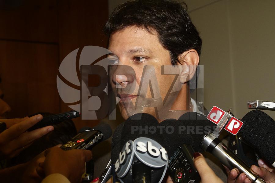 SAO PAULO, SP, 16 JANEIRO 2013 - AGENDA FERNANDO HADDAD - O Prefeito Haddad durante coletiva de imprensa na manha dessa quarta-feira, 16, na sede da prefeitura, região central da capital paulista -  FOTO: LOLA OLIVEIRA - BRAZIL PHOTO PRESS