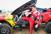 31st December 2020, Jeddah, Saudi Arabian. The vehicle and river shakedown for the 2021 Dakar Rally in Jeddah;  Loeb S bastien fra, Hunter, Bahrain Raid Xtreme, Auto, BRX, portrait during the shakedown of the Dakar 2021 in Jeddah