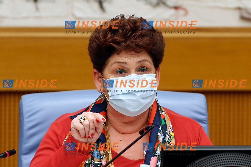 The minister of forestry policies Teresa Bellanova during the press conference that officially opens the Government crisis. Indeed, ministers of his party ha resigned as protest.<br /> Rome(Italy), January 13th 2021<br /> Photo Samantha Zucchi/Insidefoto