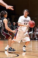 SAN ANTONIO, TX - NOVEMBER 14, 2008: The Texas A&M International University Dustdevils vs. The University of Texas at San Antonio Roadrunners Women's Basketball at the UTSA Convocation Center. (Photo by Jeff Huehn)