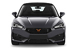 Car photography straight front view of a 2021 Cupra Leon - 5 Door Hatchback Front View