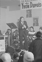 Yvon Dupuis, candidat a la chefferie du<br />  Ralliement créditiste du Québec, <br /> le 7 Janvier 1973<br /> <br /> Il sera elu chef le 4 fevrier 1973 jusqu'a sa demission le 5 Mai 1974.<br /> <br /> PHOTO : Agence Quebec Presse<br /> - Alain Renaud