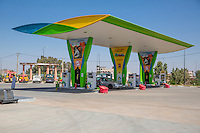 Essaouira, Morocco.  Gas (Petrol) Station.