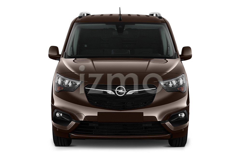 Car photography straight front view of a 2019 Opel Combo Dynamic 4 Door Car van
