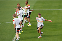 Thomas Muller of Germany trains with his team mates