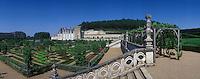 Europe/France/Centre/Indre-et-Loire/Vallée de la Loire/Villandry : Les jardins du Château de Villandry