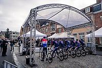 team presentation at the start under/in front of the Menin Gate War Memorial<br /> <br /> 82nd Gent-Wevelgem in Flanders Fields 2020 (1.UWT)<br /> 1 day race from Ieper to Wevelgem (232km)<br /> <br /> ©kramon