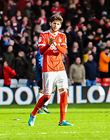 Nottingham Forest's defender Tobias Figueiredo (3) during the Sky Bet Championship match between Nottingham Forest and Derby County at the City Ground, Nottingham, England on 10 March 2018. Photo by Stephen Buckley / PRiME Media Images.