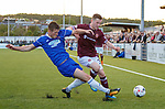 18.07.18 Cove Rangers v Hearts: Bobby Burns tackled by Cammy Milne