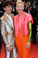 CANNES, FRANCE. July 12, 2021: Tilda Swinton & Timothee Chalamet at the gala premiere of Wes Anderson's The French Despatch at the 74th Festival de Cannes.<br /> Picture: Paul Smith / Featureflash