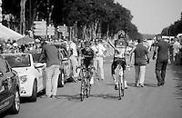 Andy Schleck (LUX) back to the bus<br /> <br /> Tour de France 2013<br /> (final) stage 21: Versailles - Paris Champs-Elysées<br /> 133,5km