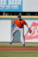 St. Lucie Mets second baseman Blake Tiberi (24) during a Florida State League game against the Bradenton Barbanegras on July 27, 2019 at LECOM Park in Bradenton, Florida.  Bradenton defeated St. Lucie 3-2.  (Mike Janes/Four Seam Images)