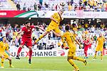 Jackson Irvine of Australia (C) heads the ball during the AFC Asian Cup UAE 2019 Group B match between Australia (AUS) and Jordan (JOR) at Hazza Bin Zayed Stadium on 06 January 2019 in Al Ain, United Arab Emirates. Photo by Marcio Rodrigo Machado / Power Sport Images