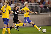 The Women's National teams of USA and Sweden played to 1-1 draw during an International friendly match at University of Phoenix stadium in Glendale, Arizona on Saturday November 19, 2011..