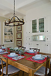 Breakfast room with built-in cabinet