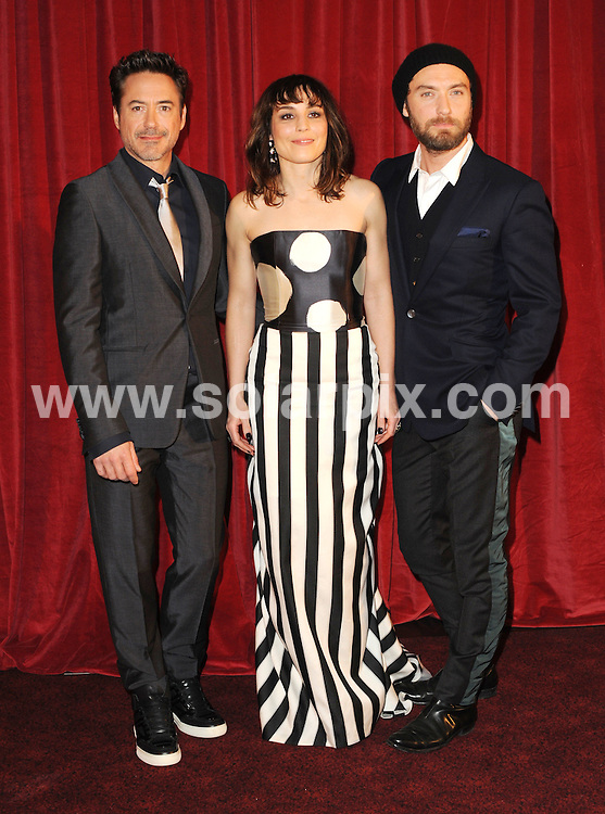 **ALL ROUND PICTURES FROM SOLARPIX.COM**                                             **WORLDWIDE SYNDICATION RIGHTS**                                                                                  Stars attend the European film premiere of 'Sherlock Holmes: A Game Of Shadows' at Empire Leicester Square in London on December 8, 2011.                                                                           This pic:    Robert Downey Jr, Noomi Rapace and Jude Law                                                                                  .JOB REF:   14280     LNJ       DATE:   08.12.11                                                         **MUST CREDIT SOLARPIX.COM OR DOUBLE FEE WILL BE CHARGED**                                                                      **MUST AGREE FEE BEFORE ONLINE USAGE**                               **CALL US ON: +34 952 811 768 or LOW RATE FROM UK 0844 617 7637**