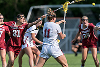 NEWTON, MA - MAY 14: ak during NCAA Division I Women's Lacrosse Tournament first round game between University of Massachusetts and Temple University at Newton Campus Lacrosse Field on May 14, 2021 in Newton, Massachusetts.