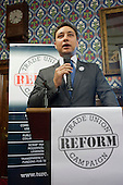 TURC Chief Executive Mark Clarke.  Launch of the Conservative-led Trade Union Reform Campaign, House of Commons, London.