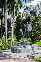 Statue of Capt. Francis Light, Fort Cornwallis, George Town, Penang, Malaysia