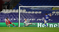 16th March 2021; Cardiff City Stadium, Cardiff, Glamorgan, Wales; English Football League Championship Football, Cardiff City versus Stoke City; Perry Ng of Cardiff City clears the ball off the goal line after a close range effort from Jordan Thompson of Stoke City