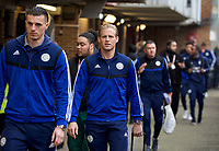 Goalkeeper Kasper Schmeichel of Leicester City arriving pre match during the FA Cup 4th round match between Brentford and Leicester City at Griffin Park, London, England on 25 January 2020. Photo by Andy Aleks.