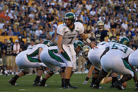 01 September 2007:Eastern Michigan quarterback Andy Schmitt (7)..The Pitt Panthers defeated the Eastern Michigan Eagles 27-3 at Heinz Field, Pittsburgh, Pennsylvania.