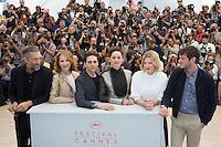 VINCENT CASSEL, NATHALIE BAYE, XAVIER DOLAN, MARION COTILLARD, LEA SEYDOUX, GASPARD ULLIEL - PHOTOCALL DU FILM 'JUSTE LA FIN DU MONDE' - 69EME FESTIVAL DU FILM DE CANNES