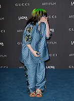 LOS ANGELES, USA. November 03, 2019: Billie Eilish at the LACMA 2019 Art+Film Gala at the LA County Museum of Art.<br /> Picture: Paul Smith/Featureflash