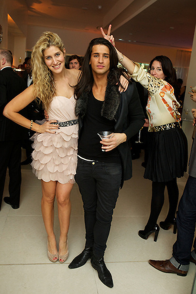 Cheska Hull, Ollie Lock and Amy Molyneaux at The Omega Boutique Launch party, Westfield Stratford, London