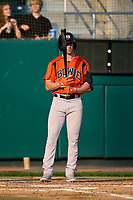 Bowie Baysox Jordan Westburg (27) bats during a game against the Harrisburg Senators on September 8, 2021 at FNB Field in Harrisburg, Pennsylvania.  (Mike Janes/Four Seam Images)