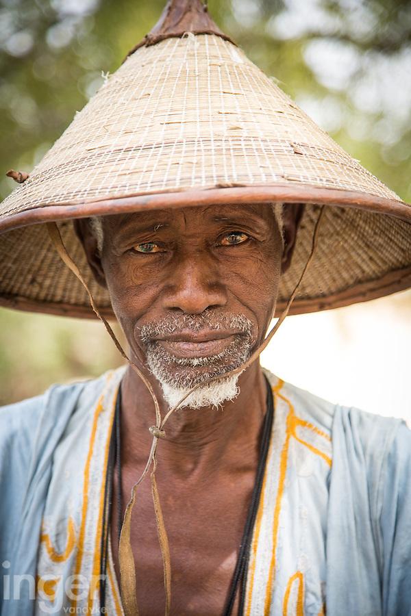 Elderly Fulani tribesman at Tambacounda, Senegal