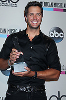 LOS ANGELES, CA - NOVEMBER 24: Luke Bryan in the press room at the 2013 American Music Awards held at Nokia Theatre L.A. Live on November 24, 2013 in Los Angeles, California. (Photo by Celebrity Monitor)