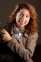 Jenny Colgan, author, poses for the photographer at her home in Juan-les-Pins, France, 17 January 2012.<br /> Jenny has recently written an original Doctor Who novel for the BBC, 'Dark Horizons', to be published in July 2012.