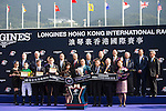SHA TIN,HONG KONG-DECEMBER 11: The connections of Satono Crown are celebrated after winning the Hong Kong Vase at Sha Tin Racecourse on December 11,2016 in Sha Tin,New Territories,Hong Kong (Photo by Kaz Ishida/Eclipse Sportswire/Getty Images)