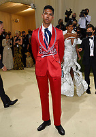 """Tyler Mitchell attends The Metropolitan Museum of Art's Costume Institute benefit gala celebrating the opening of the """"In America: A Lexicon of Fashion"""" exhibition on Monday, Sept. 13, 2021, in New York. (Photo by Evan Agostini/Invision/AP)"""
