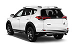 Car pictures of rear three quarter view of a 2018 Toyota RAV4 Adventure 5 Door SUV angular rear