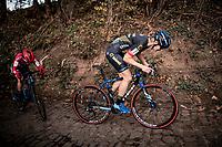 Ellen Vanloy (BEL/Telenet-Baloise Lions) up the infamous Koppenberg<br /> <br /> Koppenbergcross 2020 (BEL)<br /> women's race<br /> <br /> ©kramon