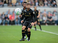 LOS ANGELES, CA - MARCH 01: Diego Rossi #9 of LAFC ball watching during a game between Inter Miami CF and Los Angeles FC at Banc of California Stadium on March 01, 2020 in Los Angeles, California.