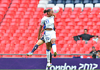 August 06, 2012..France's Marie-Laure Delie #11 during Semi Final match at the Wembley Stadium on day ten in Wembley, England. Japan defeats France 2-1 to reach Women's Finals of the 2012 London Olympics.