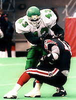 Wayne Dickson Saskatchewan Roughriders 1991. Photo F. Scott Grant
