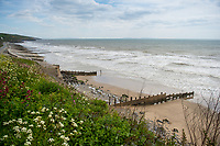 View of the seafront at Amroth, Pembrokeshire, Wales, UK